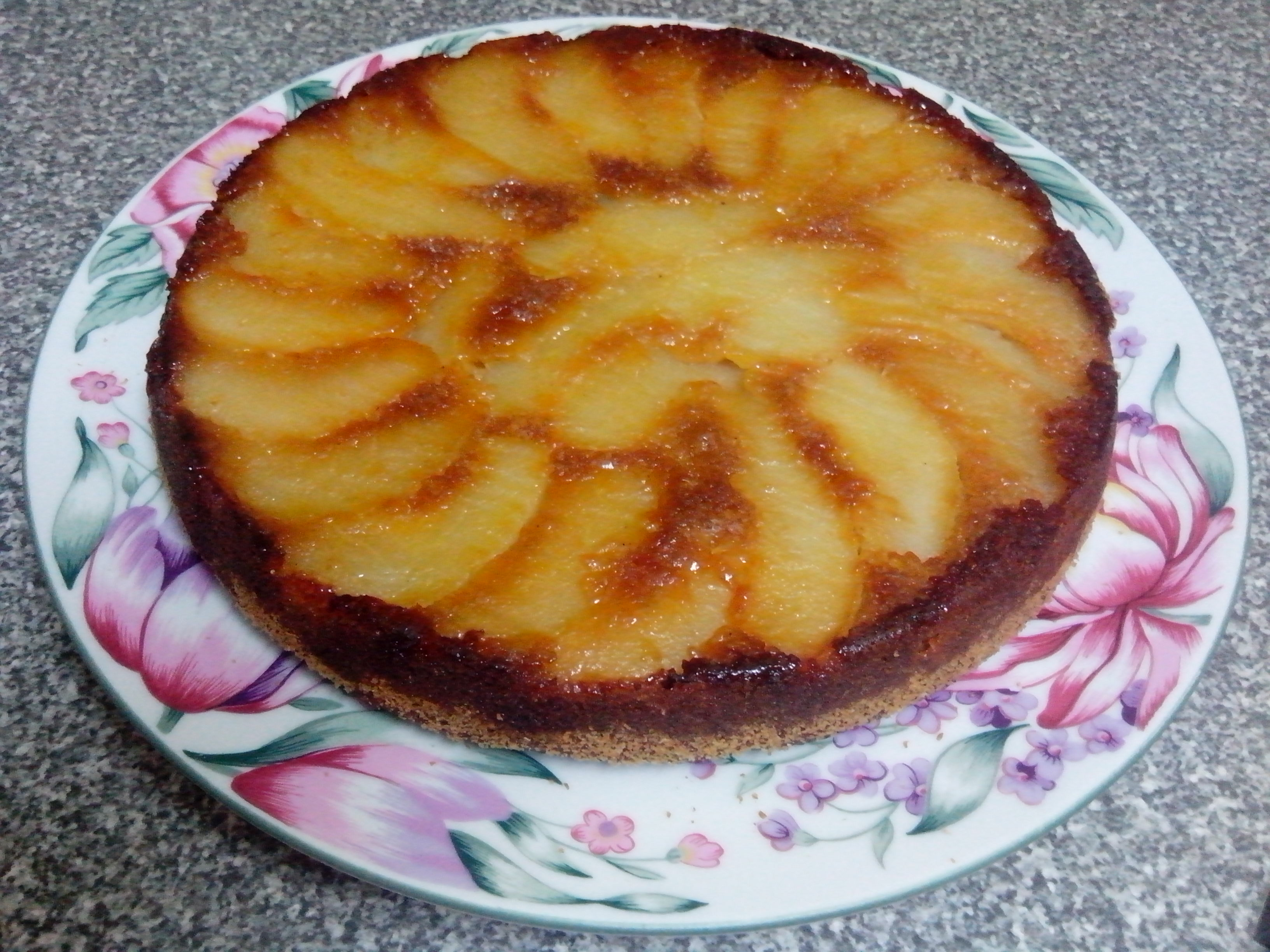 Spiced Pear Upside Down Cake – The Grantham Gardener