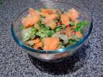 IMG_20151115_220211-Smoked salmon and pomegranate garden salad