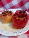 2 stuffed capsicums