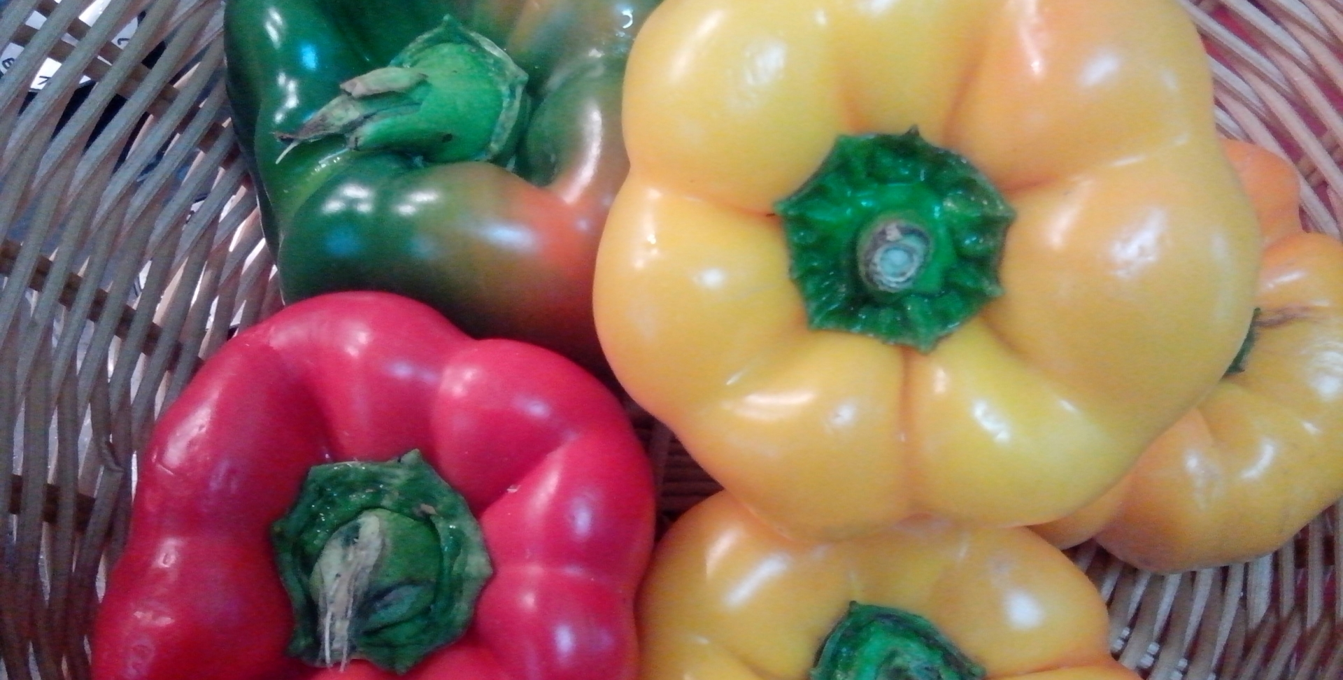 Coloured capsicums