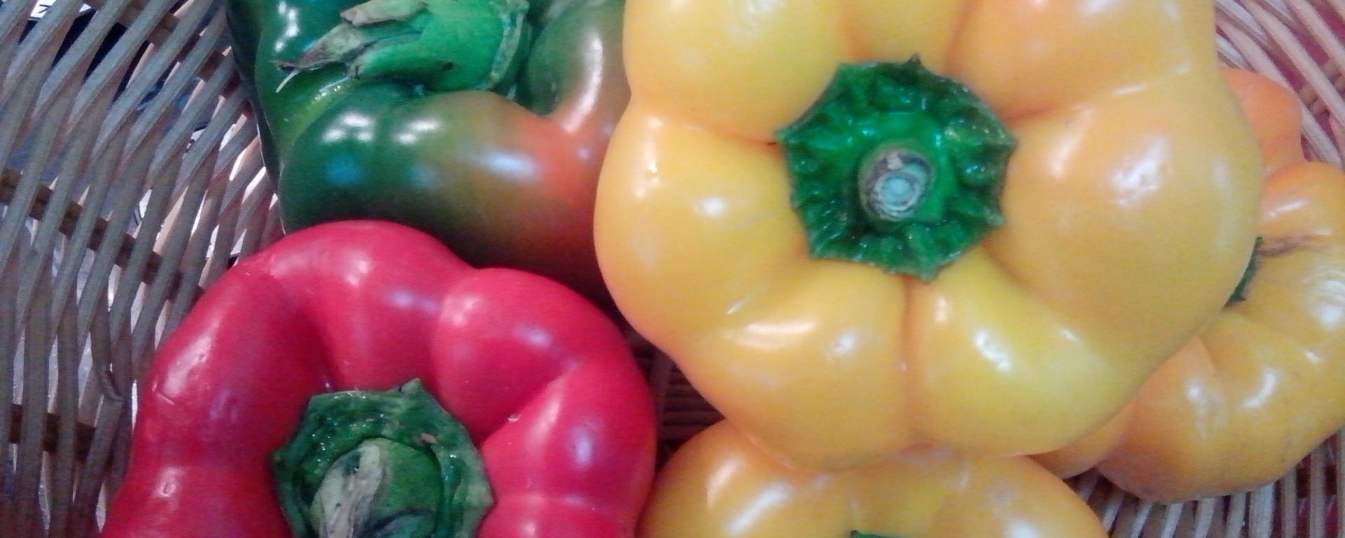 Coloured capsicums