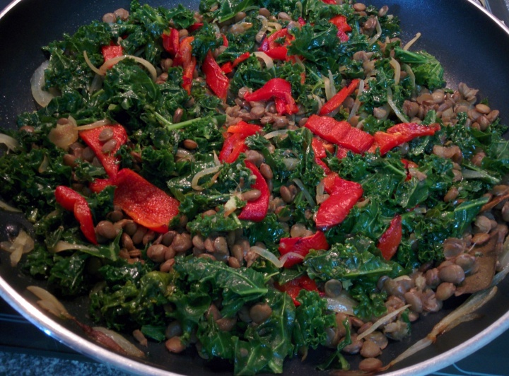 IMG_20160526_134153-Braised kale, capsicum and lentils