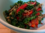 IMG_20160526_134820-Braised Kale,capsicum and lentils