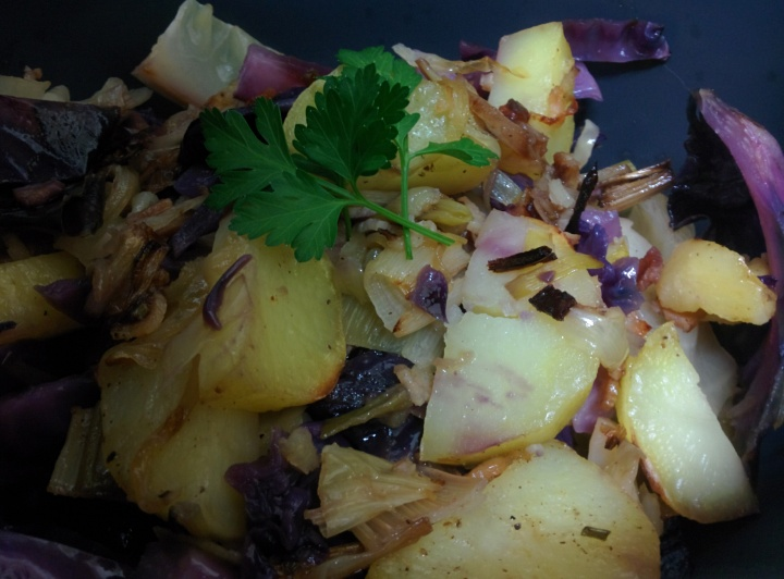 Roasted Potato, Cabbage, Leek and Bacon Pie – The Grantham Gardener